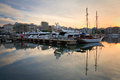 Zea marina in piraeus athens boats Royalty Free Stock Photo