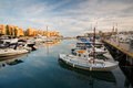Zea marina in piraeus athens boats Stock Image