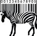 Zebra as barcode Royalty Free Stock Photo