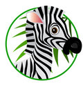 Zebra cartoon Royalty Free Stock Photo