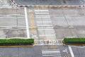 Zebra crossing, on urban asphalt road for passenger or people an
