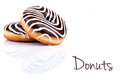 Zebra Donuts Stock Photography
