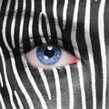 Zebra face pattern on human Royalty Free Stock Photography