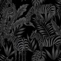 Zebra leaves black style seamless Royalty Free Stock Photo