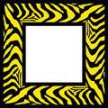 Zebra pattern frame border Royalty Free Stock Photo
