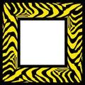 Zebra pattern frame border Stock Photography