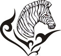 Zebra tattoo Royalty Free Stock Photo
