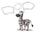 A zebra thinking illustration of on white background Stock Images
