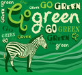 Zebra. Vector illustration - goo green save planet Stock Photo