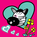 Zebra vector love illustration Stock Photos