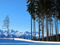 Zell Am See ski resort Royalty Free Stock Image