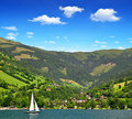 Zeller see zell am austria Stock Photo