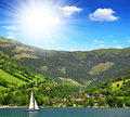Zeller see zell am austria Royalty Free Stock Photography