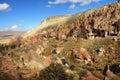 Zelve cappadocia turkey view of ancient cave monastery of Stock Photo