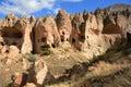 Zelve cappadocia turkey view of ancient cave monastery of Stock Image