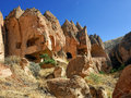 Zelve cappadocia turkey view of ancient cave monastery of Royalty Free Stock Photography