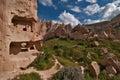 Zelve valley in Cappadocia Stock Photo