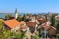 Zemun, Serbia. View of the St. Nicholas Church, Danube and Belgrade Royalty Free Stock Photo