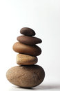 Zen and the art of balancing pebbles Royalty Free Stock Images
