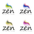 Zen the art of living designs soft colorful log for Stock Photo