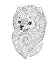 Zen art stylized Dog in vector