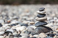 Zen balanced stones stack close up Royalty Free Stock Photo