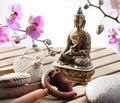 Zen buddha for harmony and serenity exfoliation meditation inner wellbeing Royalty Free Stock Photo