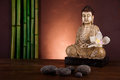 Zen of a buddha, vivid colors, natural tone Royalty Free Stock Photo