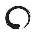 Zen Circle Logo Hand Drawn Shape Royalty Free Stock Photo
