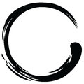 Zen Circle Paint Brush Stroke Vector