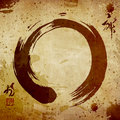 Zen circle vintage background Stock Photography