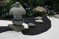 Zen garden landscape Royalty Free Stock Photography