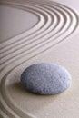 Zen garden meditation and relaxation stone Royalty Free Stock Photo