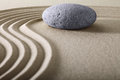 Zen garden meditation stone background Royalty Free Stock Photo
