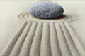 Zen garden meditation stone Royalty Free Stock Photo