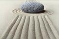 Zen garden meditation stone Royalty Free Stock Photo