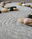 Zen garden path Stock Photo