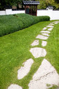 Zen garden path Royalty Free Stock Photos
