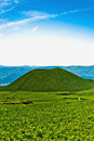 Zen Japan volcano landscape in Kyushu Royalty Free Stock Photography