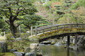 Zen-like Japanese bridge, peace and tranquility Stock Image