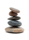 Zen like stones stack isolated on white background Stock Photography