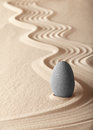 Zen meditation garden balance simplicity Stock Photos