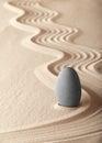 Zen meditation garden balance simplicity Royalty Free Stock Photo