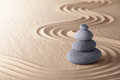 Zen meditation garden balance stones Royalty Free Stock Photo