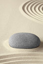 Zen meditation garden simplicity and harmony Stock Photos