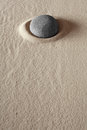 Zen meditation stone purity well being Royalty Free Stock Photo