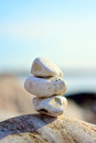 Zen rocks by the ocean Stock Image