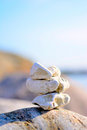 Zen rocks by the ocean Royalty Free Stock Photo