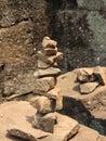 Zen stone meditation Imagens de Stock Royalty Free
