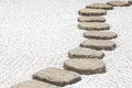 Zen stone path in a japanese garden Stock Image